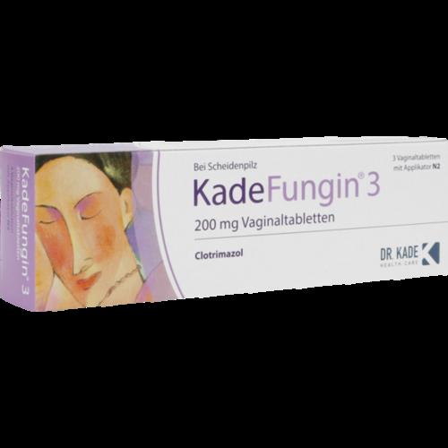 Verpackungsbild(Packshot) von KADEFUNGIN 3 Vaginaltabletten