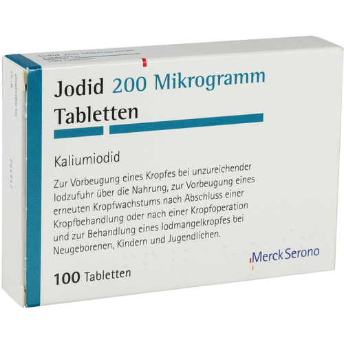 Verpackungsbild(Packshot) von JODID 200 Tabletten