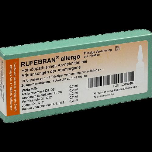 Verpackungsbild(Packshot) von RUFEBRAN allergo Ampullen