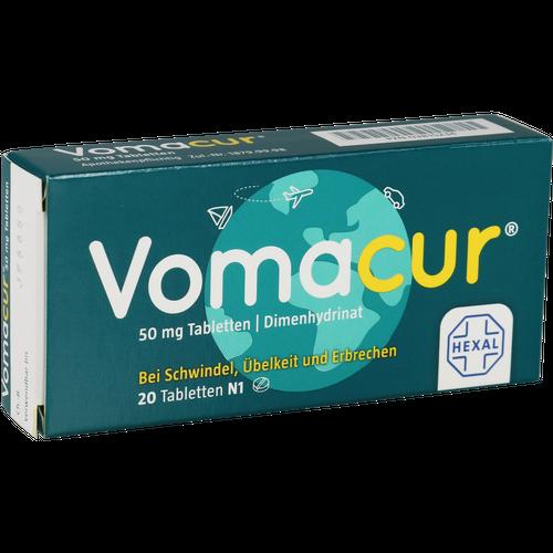 Verpackungsbild(Packshot) von VOMACUR Tabletten