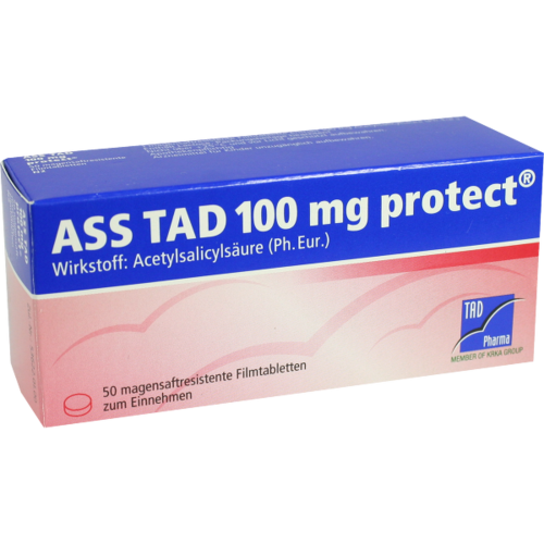 Verpackungsbild(Packshot) von ASS TAD 100 mg protect magensaftres.Filmtabletten