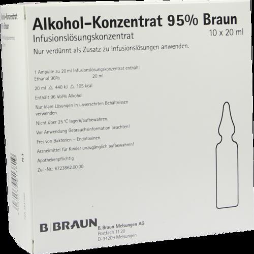 Verpackungsbild(Packshot) von ALKOHOL 95% Infusionslösungskonzentrat