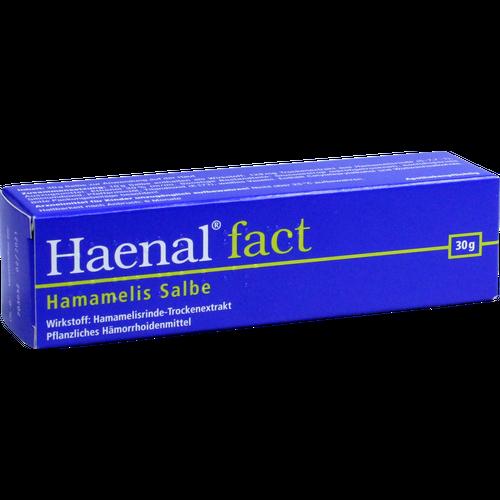 Verpackungsbild(Packshot) von HAENAL Fact Hamamelis Salbe