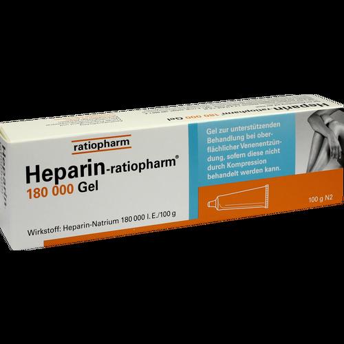 Verpackungsbild(Packshot) von HEPARIN-RATIOPHARM 180.000 I.E. Gel