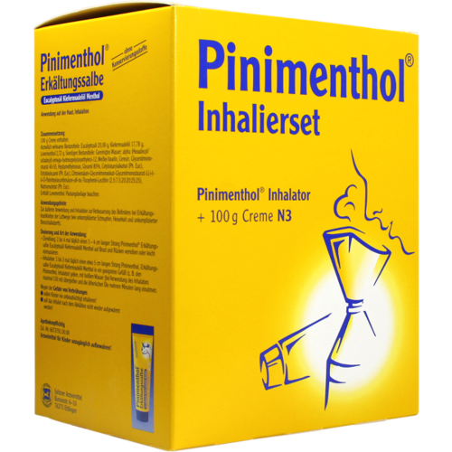 Verpackungsbild(Packshot) von PINIMENTHOL Inhalierset 100 g Kombipackung