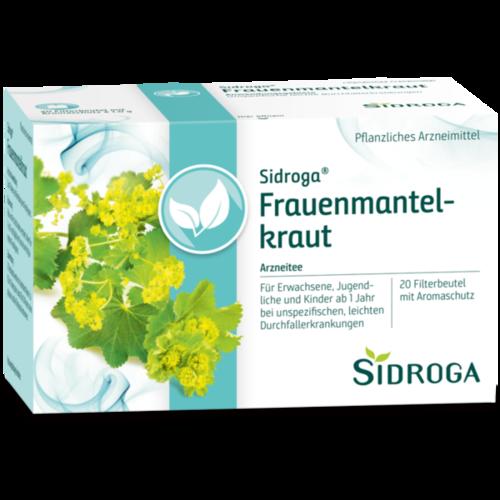 Verpackungsbild(Packshot) von SIDROGA Frauenmantelkraut Tee Filterbeutel