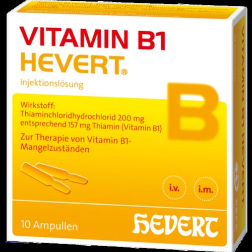 Verpackungsbild(Packshot) von VITAMIN B1 HEVERT Ampullen