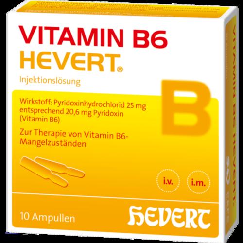 Verpackungsbild(Packshot) von VITAMIN B6 HEVERT Ampullen