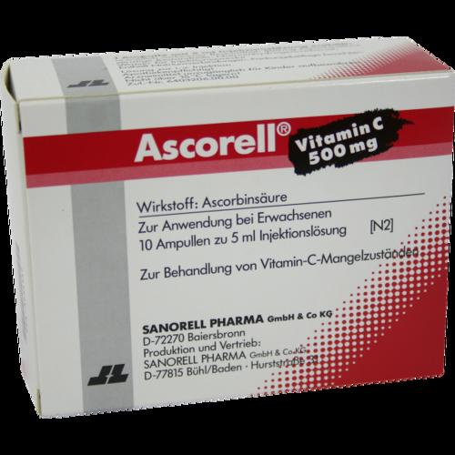Verpackungsbild(Packshot) von ASCORELL Injektionslösung