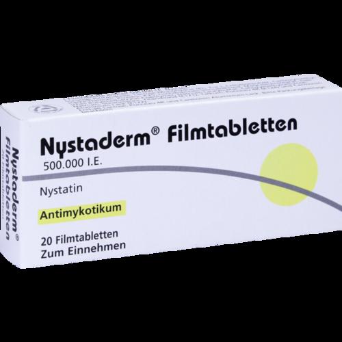 Verpackungsbild(Packshot) von NYSTADERM Filmtabletten