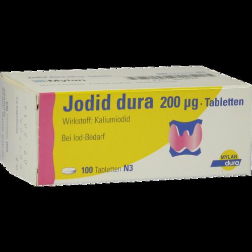 Verpackungsbild(Packshot) von JODID dura 200 μg Tabletten