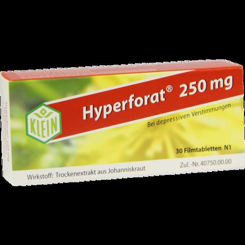 Verpackungsbild(Packshot) von HYPERFORAT 250 mg Filmtabletten