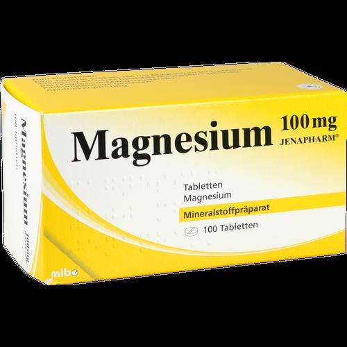 Verpackungsbild(Packshot) von MAGNESIUM 100 mg Jenapharm Tabletten