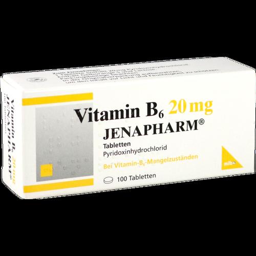 Verpackungsbild(Packshot) von VITAMIN B6 20 mg Jenapharm Tabletten