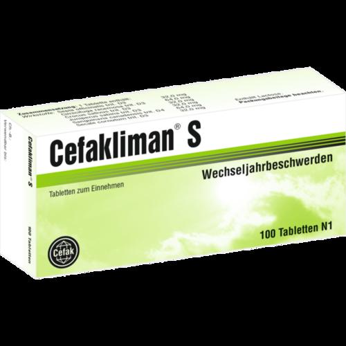 Verpackungsbild(Packshot) von CEFAKLIMAN S Tabletten