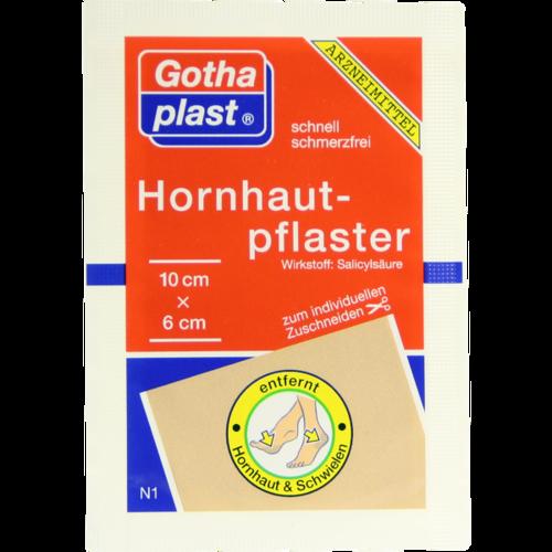 Verpackungsbild(Packshot) von GOTHAPLAST Hornhautpflaster 6x10 cm