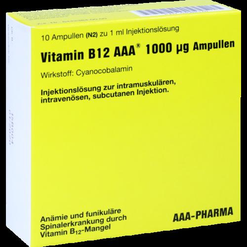 Verpackungsbild(Packshot) von VITAMIN B12 AAA 1000 μg Ampullen