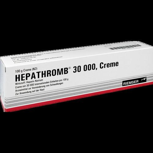 Verpackungsbild(Packshot) von HEPATHROMB Creme 30.000