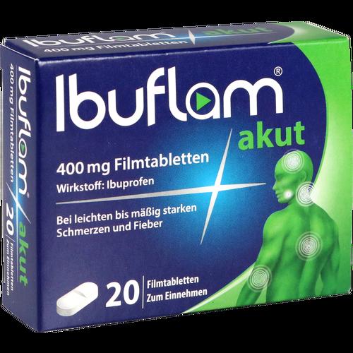 Verpackungsbild(Packshot) von IBUFLAM akut 400 mg Filmtabletten