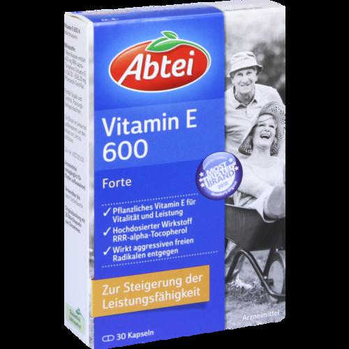 Verpackungsbild(Packshot) von ABTEI Vitamin E 600 N Kapseln