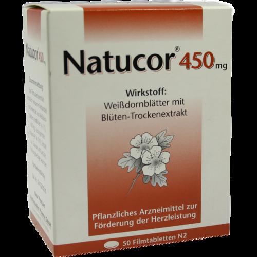 Verpackungsbild(Packshot) von NATUCOR 450 mg Filmtabletten
