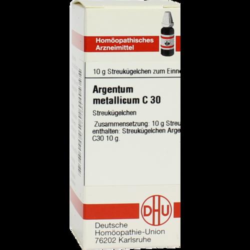 Verpackungsbild(Packshot) von ARGENTUM METALLICUM C 30 Globuli