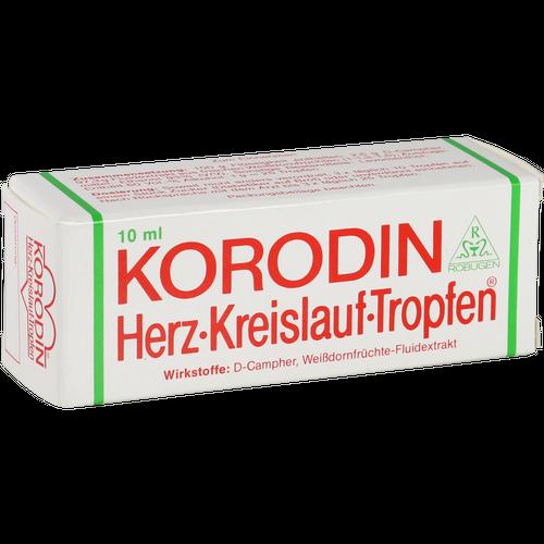 Verpackungsbild(Packshot) von KORODIN Herz-Kreislauf-Tropfen zum Einnehmen