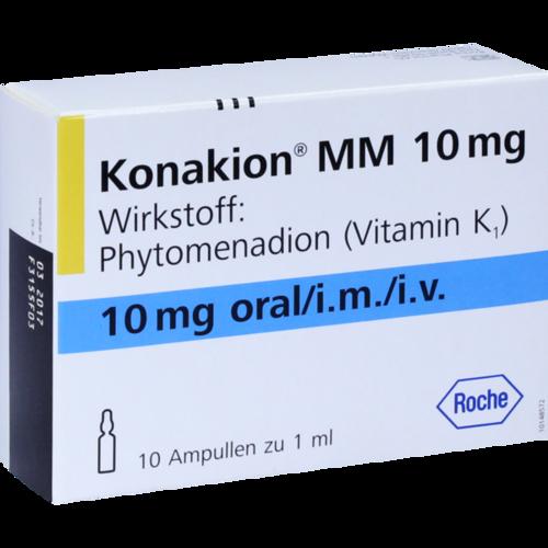 Verpackungsbild(Packshot) von KONAKION MM 10 mg Lösung