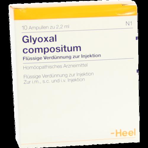 Verpackungsbild(Packshot) von GLYOXAL compositum Ampullen