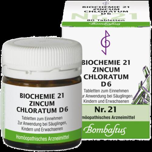 Verpackungsbild(Packshot) von BIOCHEMIE 21 Zincum chloratum D 6 Tabletten