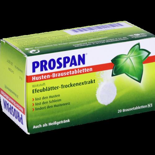 Verpackungsbild(Packshot) von PROSPAN Husten Brausetabletten