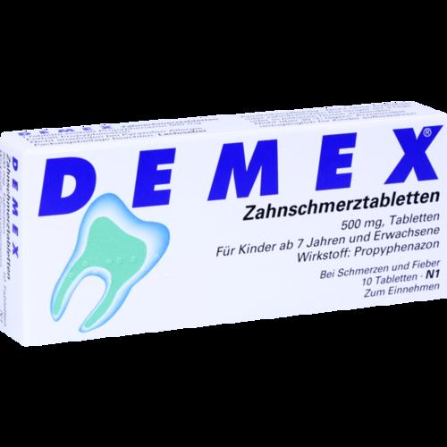 Verpackungsbild(Packshot) von DEMEX Zahnschmerztabletten