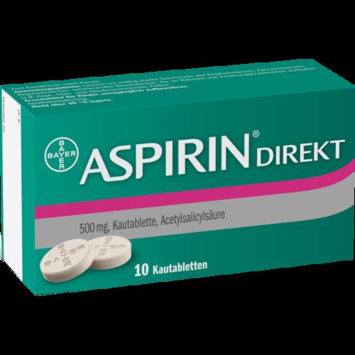 Verpackungsbild(Packshot) von ASPIRIN Direkt Kautabletten