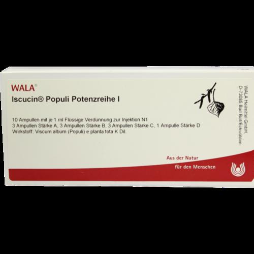 Verpackungsbild(Packshot) von ISCUCIN populi Potenzreihe I Ampullen