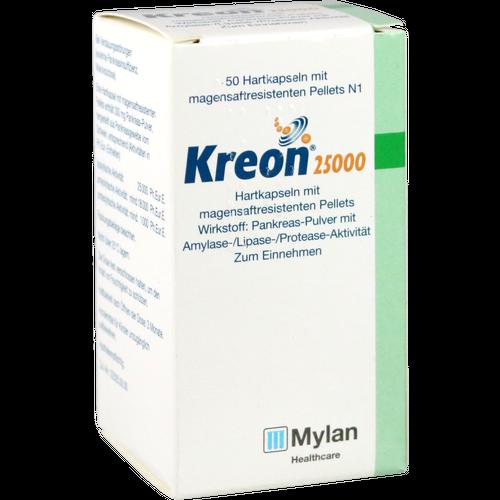 Verpackungsbild(Packshot) von KREON 25.000 Hartkps.m.magensaftr.überz.Pellets
