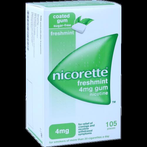 Verpackungsbild(Packshot) von NICORETTE 4 mg freshmint Kaugummi