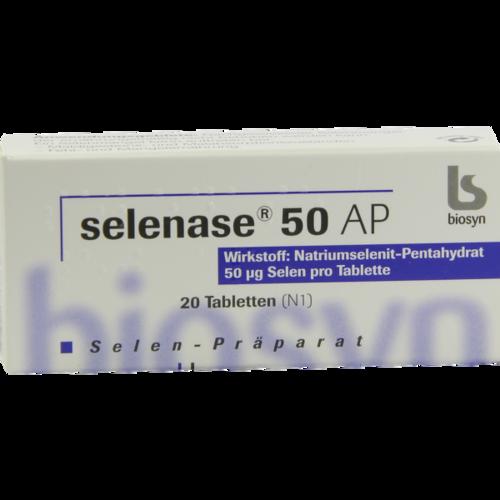 Verpackungsbild(Packshot) von SELENASE 50 AP Tabletten