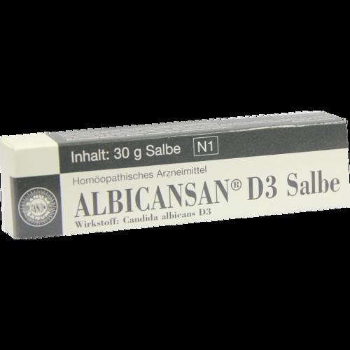 Verpackungsbild(Packshot) von ALBICANSAN D 3 Salbe
