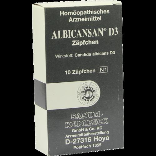 Verpackungsbild(Packshot) von ALBICANSAN D 3 Suppositorien