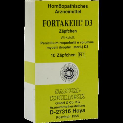 Verpackungsbild(Packshot) von FORTAKEHL D 3 Suppositorien