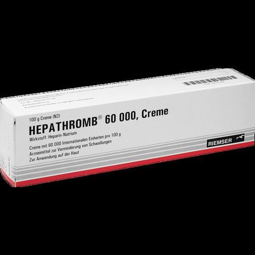 Verpackungsbild(Packshot) von HEPATHROMB Creme 60.000
