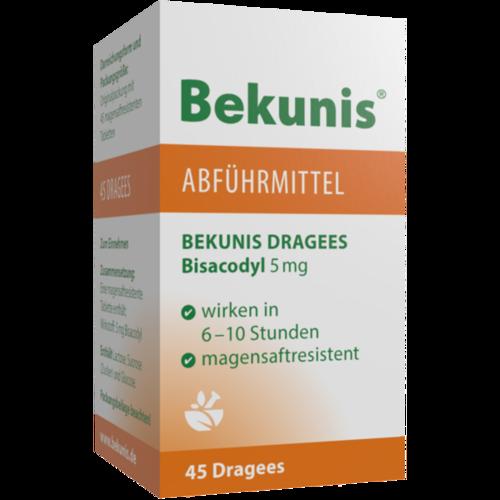 Verpackungsbild(Packshot) von BEKUNIS Dragees Bisacodyl 5 mg magensaftres.Tabl.