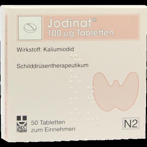 Verpackungsbild(Packshot) von JODINAT 100 μg Tabletten
