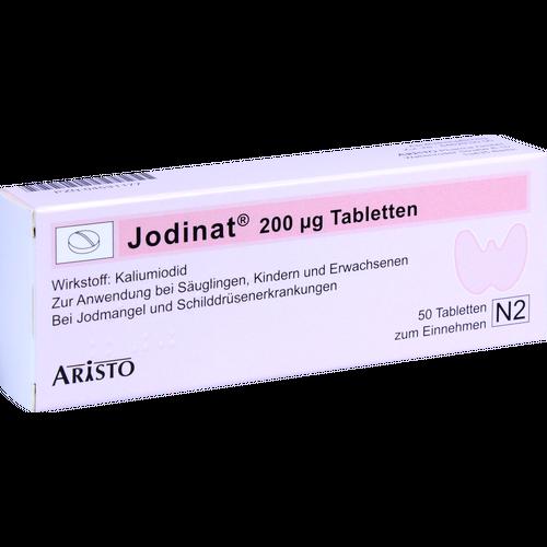 Verpackungsbild(Packshot) von JODINAT 200 μg Tabletten