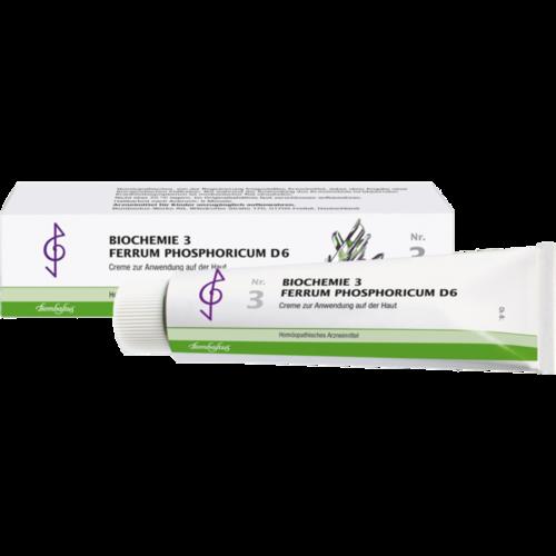 Verpackungsbild(Packshot) von BIOCHEMIE 3 Ferrum phosphoricum D 6 Creme