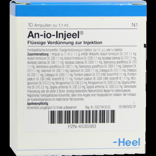 Verpackungsbild(Packshot) von AN-IO Injeel Ampullen