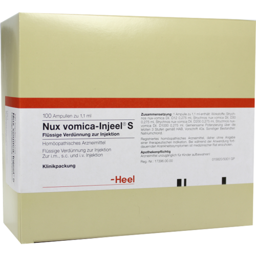 Verpackungsbild(Packshot) von NUX VOMICA INJEEL S Ampullen