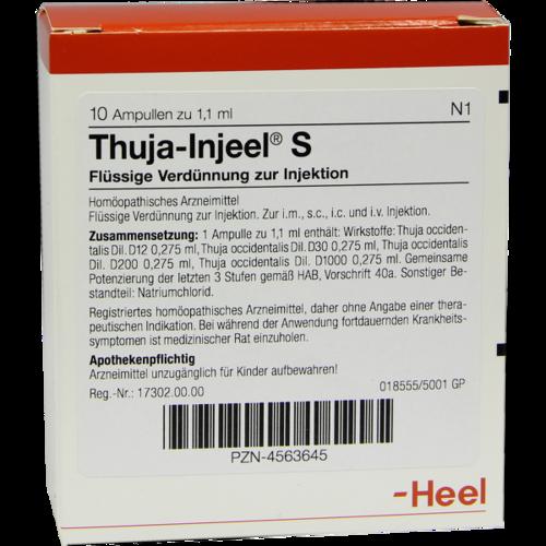 Verpackungsbild(Packshot) von THUJA INJEEL S Ampullen