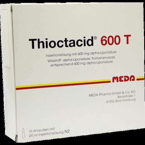 Verpackungsbild(Packshot) von THIOCTACID 600 T Injektionslösung