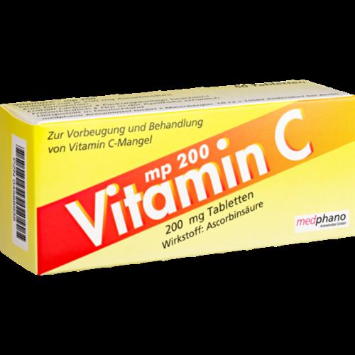 Verpackungsbild(Packshot) von VITAMIN C 200 mg Tabletten